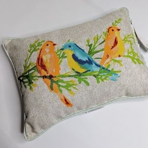 NWT Sonoma Bird Accent Pillow Ourdoor/Indoor
